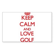Keep calm and love Golf Decal