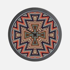 Aztec TriCross Wall Clock