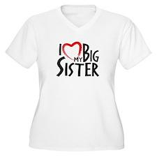 I HEAT MY BIG SISTER Plus Size T-Shirt