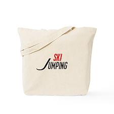 Ski Jumping Tote Bag