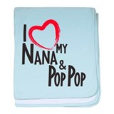 I love my nana and pop pop Blanket