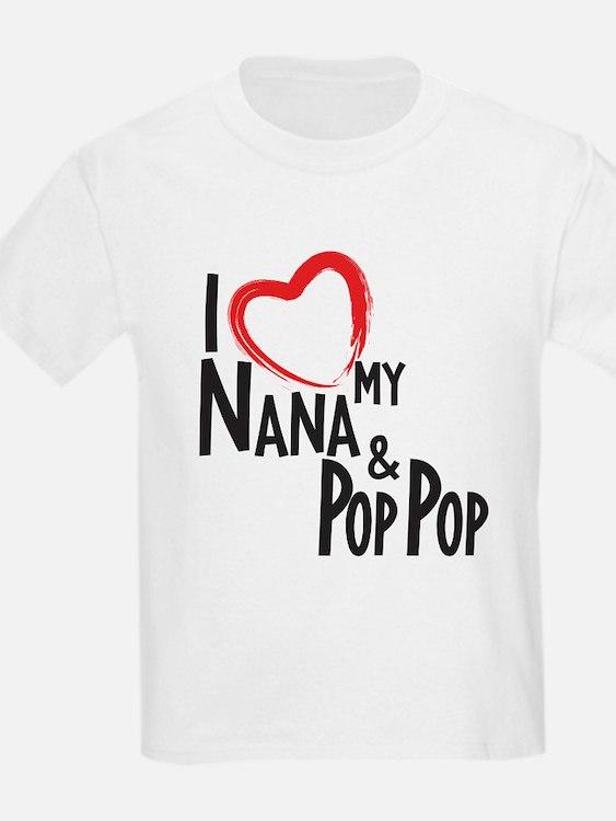 I heart my Nana and Pop Pop T-Shirt