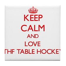 Keep calm and love Ithf Table Hockey Tile Coaster