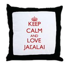 Keep calm and love Jai-Alai Throw Pillow