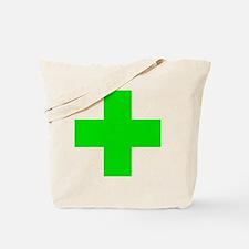 Medical Marijuana Cross Tote Bag