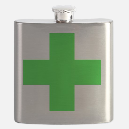 Medical Marijuana Cross Flask