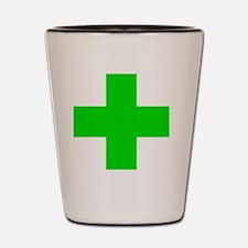 Medical Marijuana Cross Shot Glass