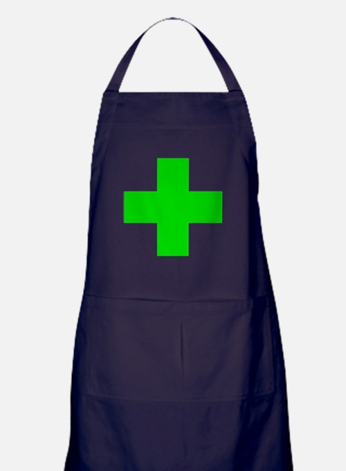 Medical Marijuana Cross Apron (dark)