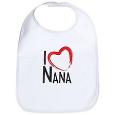 I heart nana, I love nana, I love grandma Bib