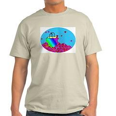 Bag O' Hearts Ash Grey T-Shirt
