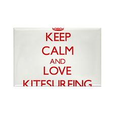 Keep calm and love Kitesurfing Magnets