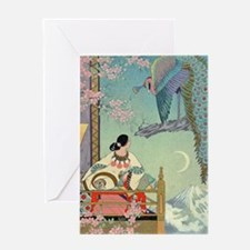 Art Deco Peacock Greeting Cards