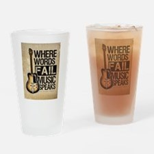 breaking point Drinking Glass