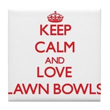Keep calm and love Lawn Bowls Tile Coaster