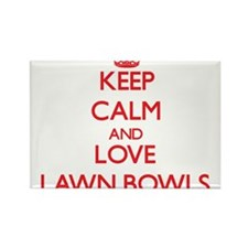 Keep calm and love Lawn Bowls Magnets