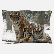 TIGER IN THE SNOW Pillow Case