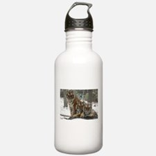 TIGER IN THE SNOW Water Bottle