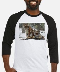 TIGER IN THE SNOW Baseball Jersey