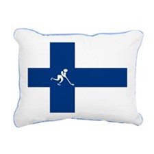 Team Ice Hockey Finland Rectangular Canvas Pillow