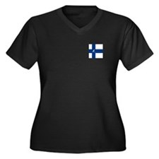 Team Ice Hoc Women's Plus Size V-Neck Dark T-Shirt