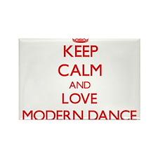 Keep calm and love Modern Dance Magnets