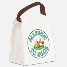 ALLERGIC TO EGGS Canvas Lunch Bag