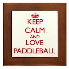 Keep calm and love Paddleball Framed Tile