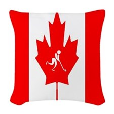 Team Ice Hockey Canada Woven Throw Pillow