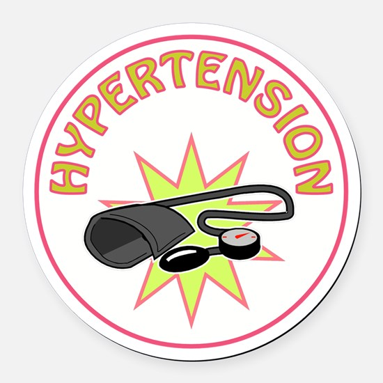 HYPERTENSION Round Car Magnet