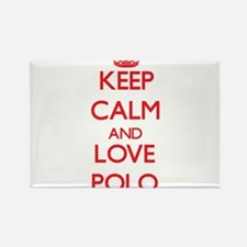 Keep calm and love Polo Magnets