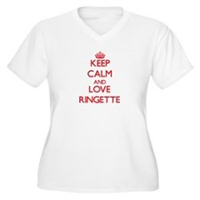 Keep calm and love Ringette Plus Size T-Shirt