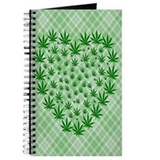 Marijuana Leaf Heart Journal