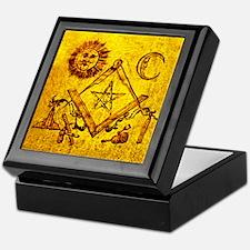 Freemason Lampskin Keepsake Box