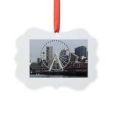 Seattle Big Wheel & Space Needle  Ornament