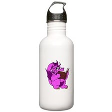 Pink Dragon Reading Water Bottle