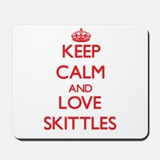 Keep calm and love Skittles Mousepad