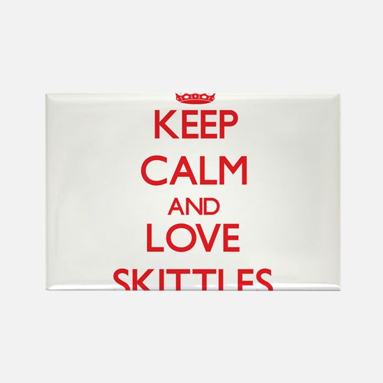 Keep calm and love Skittles Magnets
