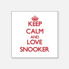 Keep calm and love Snooker Sticker