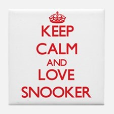 Keep calm and love Snooker Tile Coaster