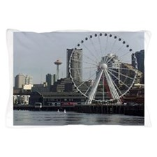 Seattle Space Needle & Seattle's Big W Pillow Case