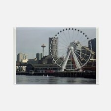 Seattle Space Needle & Seattle's  Rectangle Magnet