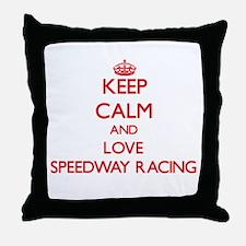 Keep calm and love Speedway Racing Throw Pillow