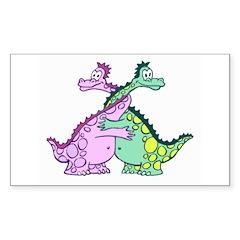 Love Dragons Sticker (Rect.)