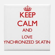 Keep calm and love Synchronized Skating Tile Coast