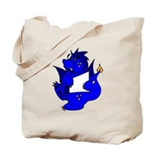 Blue Dragon With Paper Tote Bag