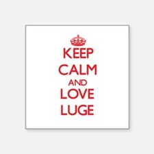 Keep calm and love The Luge Sticker
