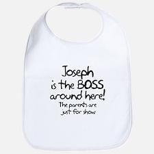 Joseph is the Boss Bib
