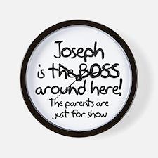 Joseph is the Boss Wall Clock