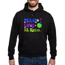 ER Nurse Peace LOve Hoody