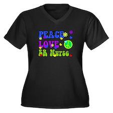 ER Nurse Peace LOve Plus Size T-Shirt